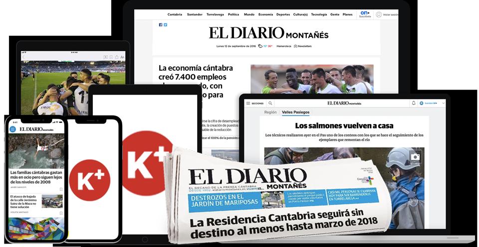 EL DIARIO MONTAÑES ON  Suscripción edición digital ON